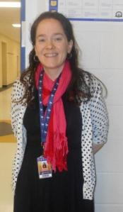 Ms. Elizabeth Glaser, social studies teacher, loves to teach history. Glaser is one of the new faces around Keenan for 2014-2015.